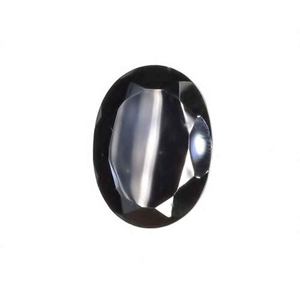 Black Spinel Oval Loose Unset Gemstone Faceted 15mm X 11mm (1)