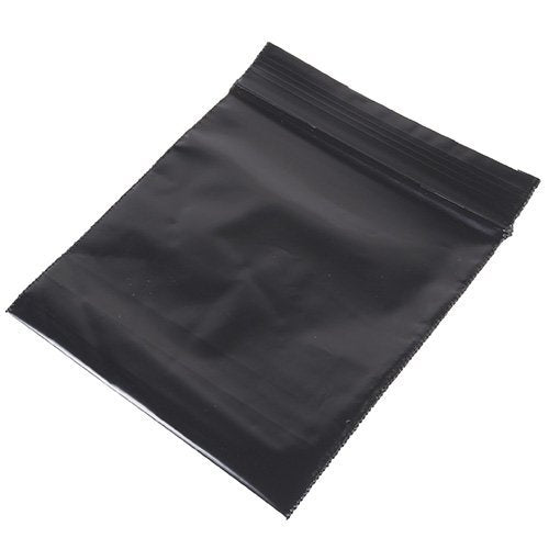 Black Reclosable Resealable Zipper Bags, 100