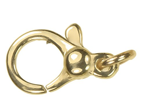 uGems 14K Solid Gold Pear Shape Lobster Clasp 10mm