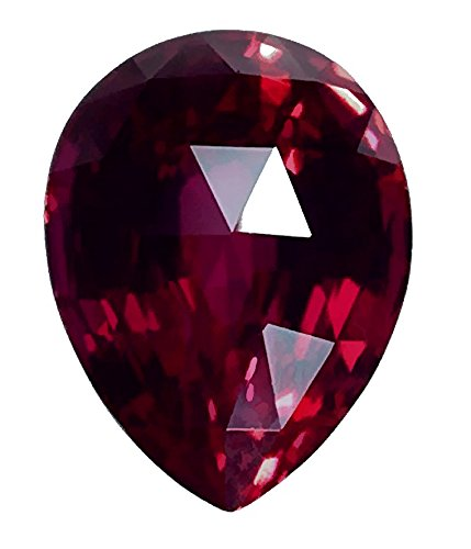 Created Ruby Pear Jumbo About 30mm Long