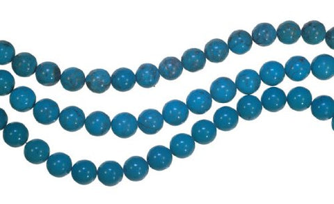 Turquoise Round Beads Strand 8mm Genuine 16
