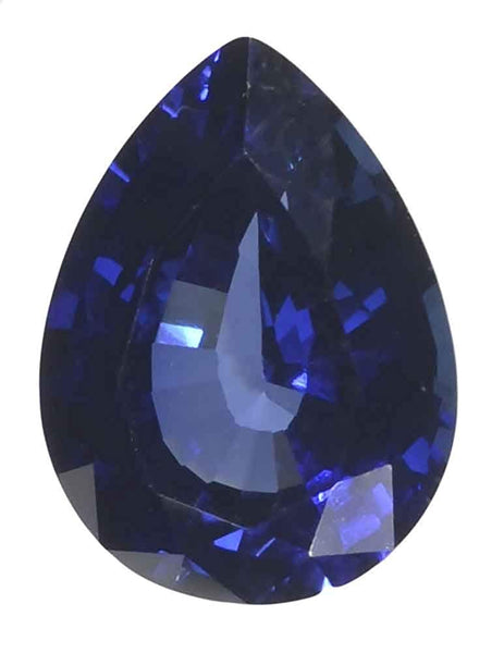 Blue Lab Sapphire Pear Unset Loose Gem Synthetic Corundum 15mmx11mm