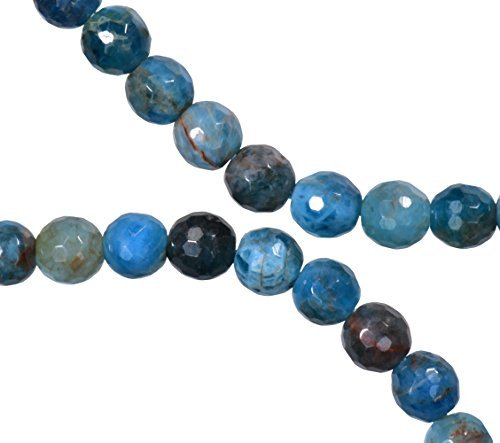 Apatite Blue Faceted Round 6mm Strand