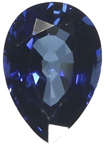 Blue Lab Sapphire Faceted Loose Pear 3 Carats