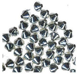 48 Double Cone 3.3mm Sterling Silver Small Spacer Bicones Beads (Qty=48) USA