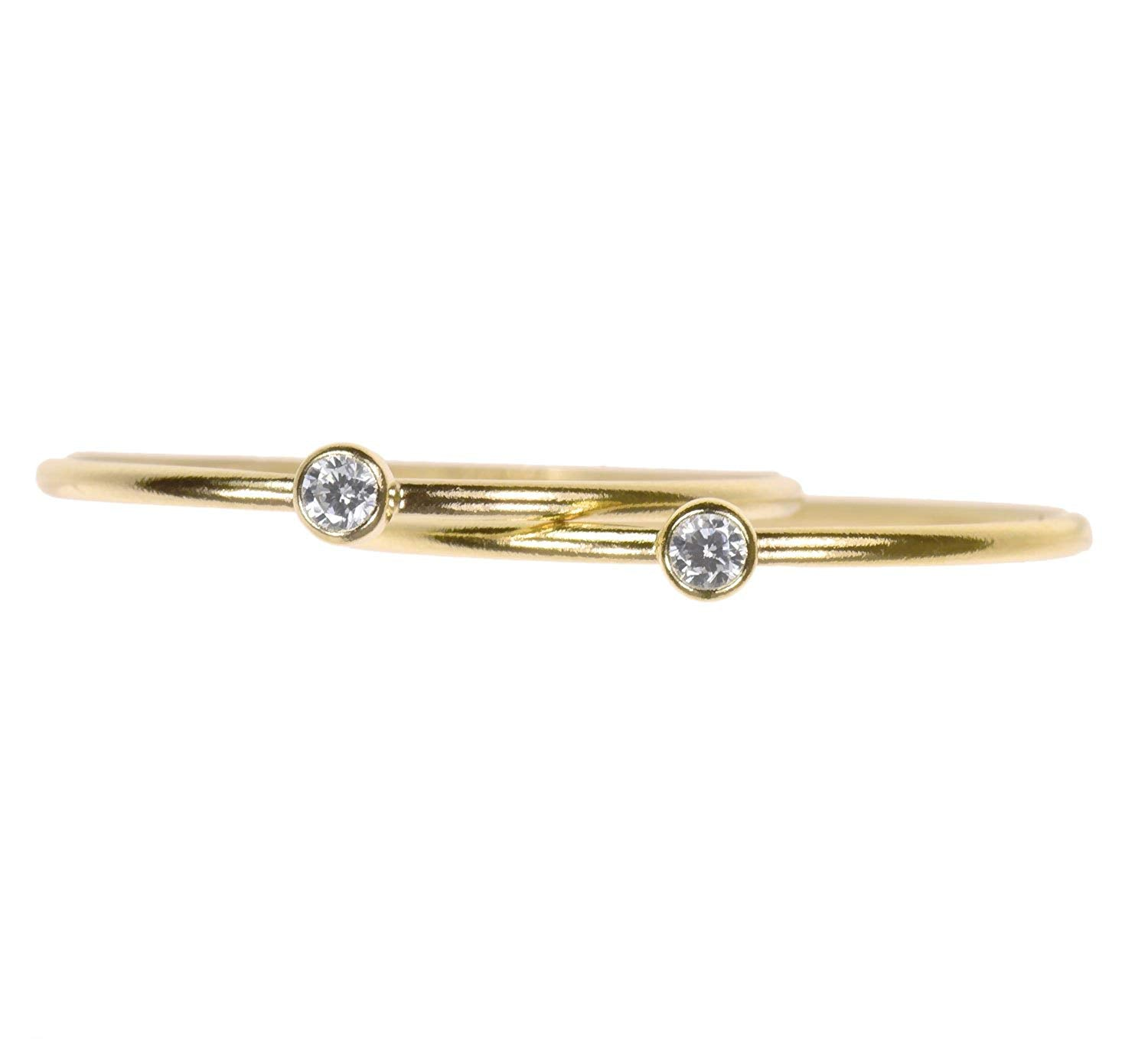 Stacking Rings White CZ Assorted Ring Sizes and Metals