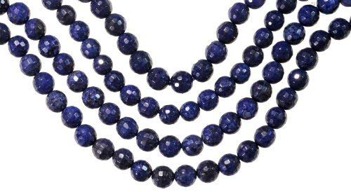 uGems Sodalite 6mm Facet Round Medium Beads Strand 15 Inch