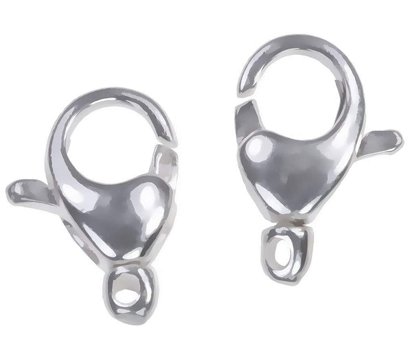 uGems 2 Sterling Silver Oval Swivel Clasps 11mm x 7mm