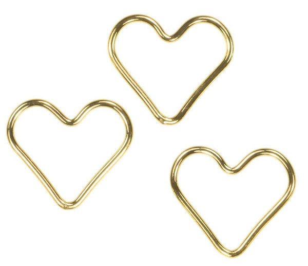 3 14k Gold Filled Heart Closed Jump Rings 15mm