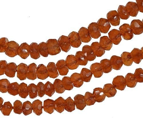 uGems Carnelian Micro Faceted Rondelle Genuine Natural Beads Strand ~3.5mm 13""