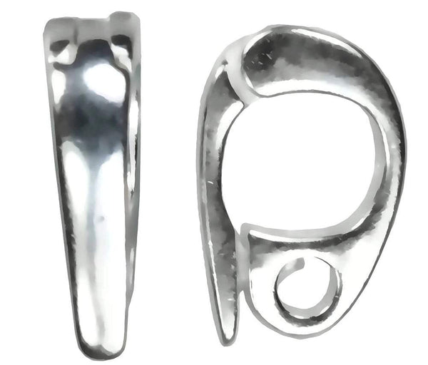 uGems 2 Sterling Silver Small-Medium Enhancers 9mm x 6mm