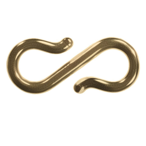 uGems 14k Gold S-hook Clasp Connector 11mm Medium