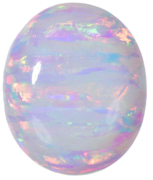 Created Opal Oval Cabochon White Oval 12mm x 10mm (1)