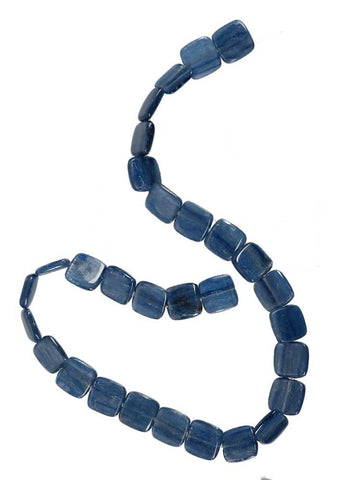 Blue Kyanite Square Bead Strand 16mm 16 Inch