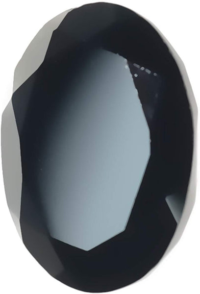 Black Spinel Oval Unset Faceted 12mm X 16mm