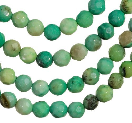 Green Moss Opal Facet 4mm Round Small Beads Strand 15.5""