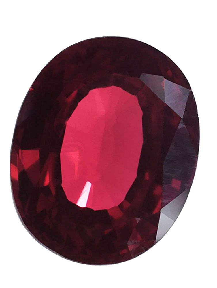Lab Ruby Large Oval Facet Deep Red 22mm