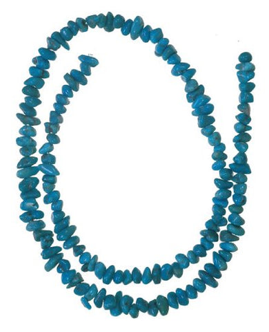 Turquoise 6mm Small Nugget Beads Strand Genuine 15.75