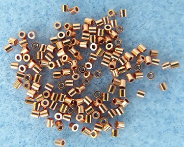 2x2mm Copper Crimp Genuine Real Beads Usa Made (Qty=144)