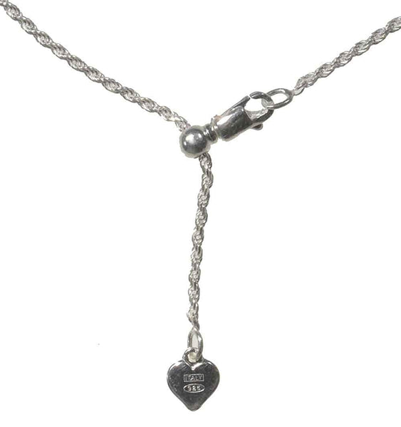 Sterling Silver Easy Adjust Diamond-Cut Rope Chain