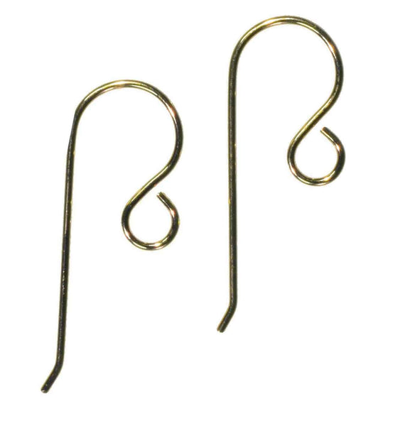 Earwire Gold Filled Fishhook Loop Earring Parts Small x-Pair