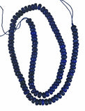 Lapis Lazuli 6mm Button Round Button Beads Enhanced Strand 15.5""