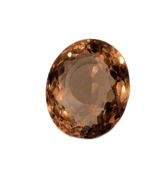 Simulated Morganite Faceted Unset Loose Oval 20mm