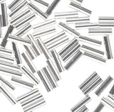 "Sterling Silver Argentium""Liquid Silver"" Tube Beads 1mm X 4mm (100)"