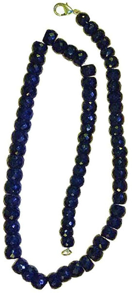 Sapphire Midnight Blue/black Facet Rondelle Strand 8mm-10mm 18""
