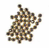 uGems Faceted Round Precious Metal Beads Small Spacer Beads USA