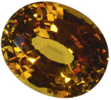 uGems Yellow Created Sapphire Oval Loose Gem 11mm