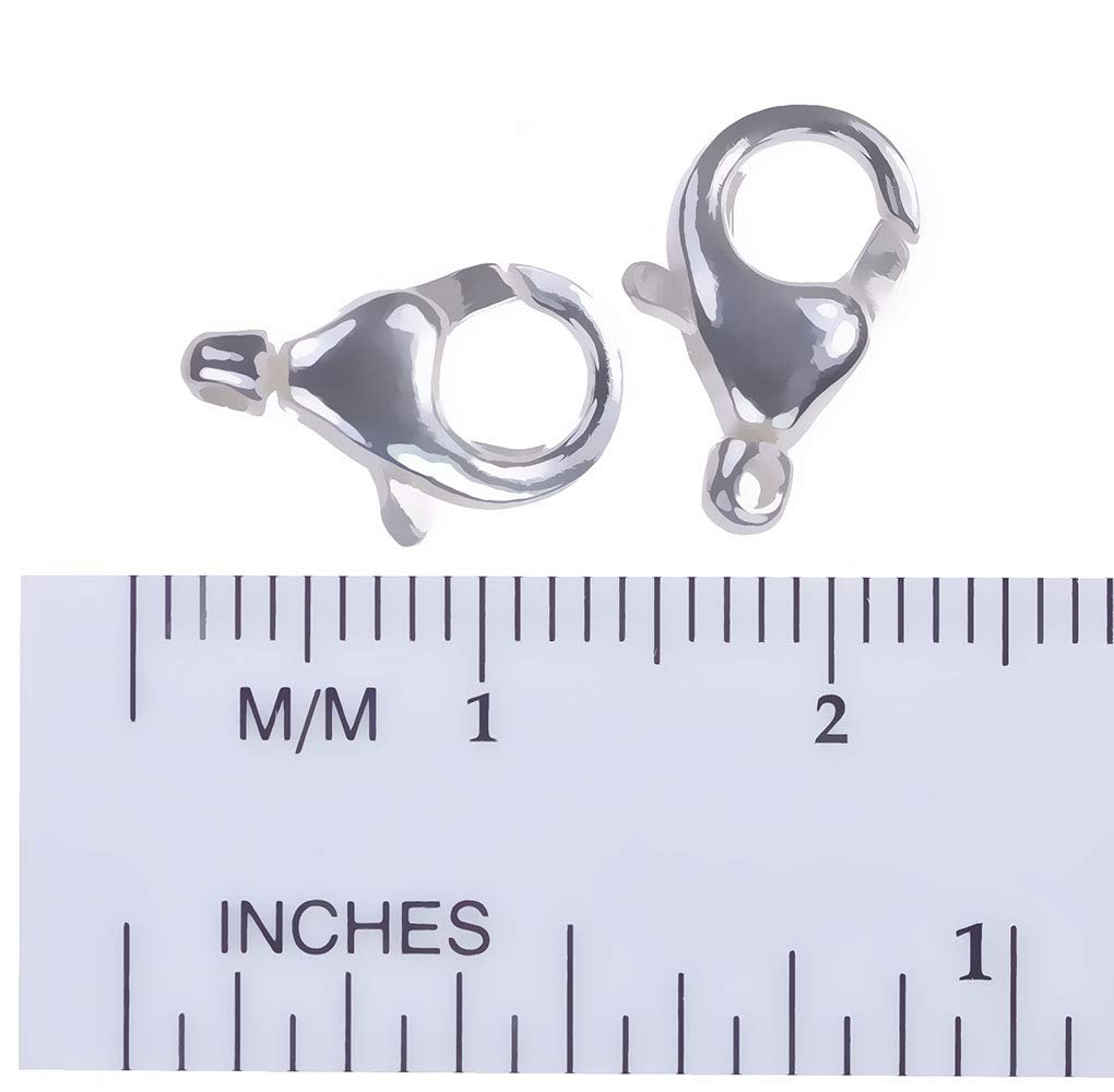 uGems 2 Sterling Silver Oval Swivel Clasps 13mm x 7mm