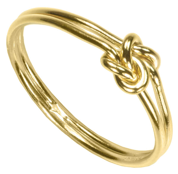 uGems 14K Gold Filled Double Love Knot Rings