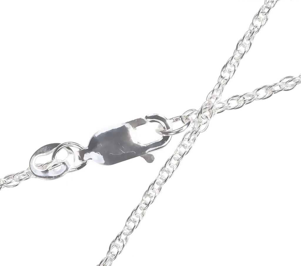 Sterling Silver Argentium 930 Rope Pendant Chain Necklace 1.2mm 16 Inch