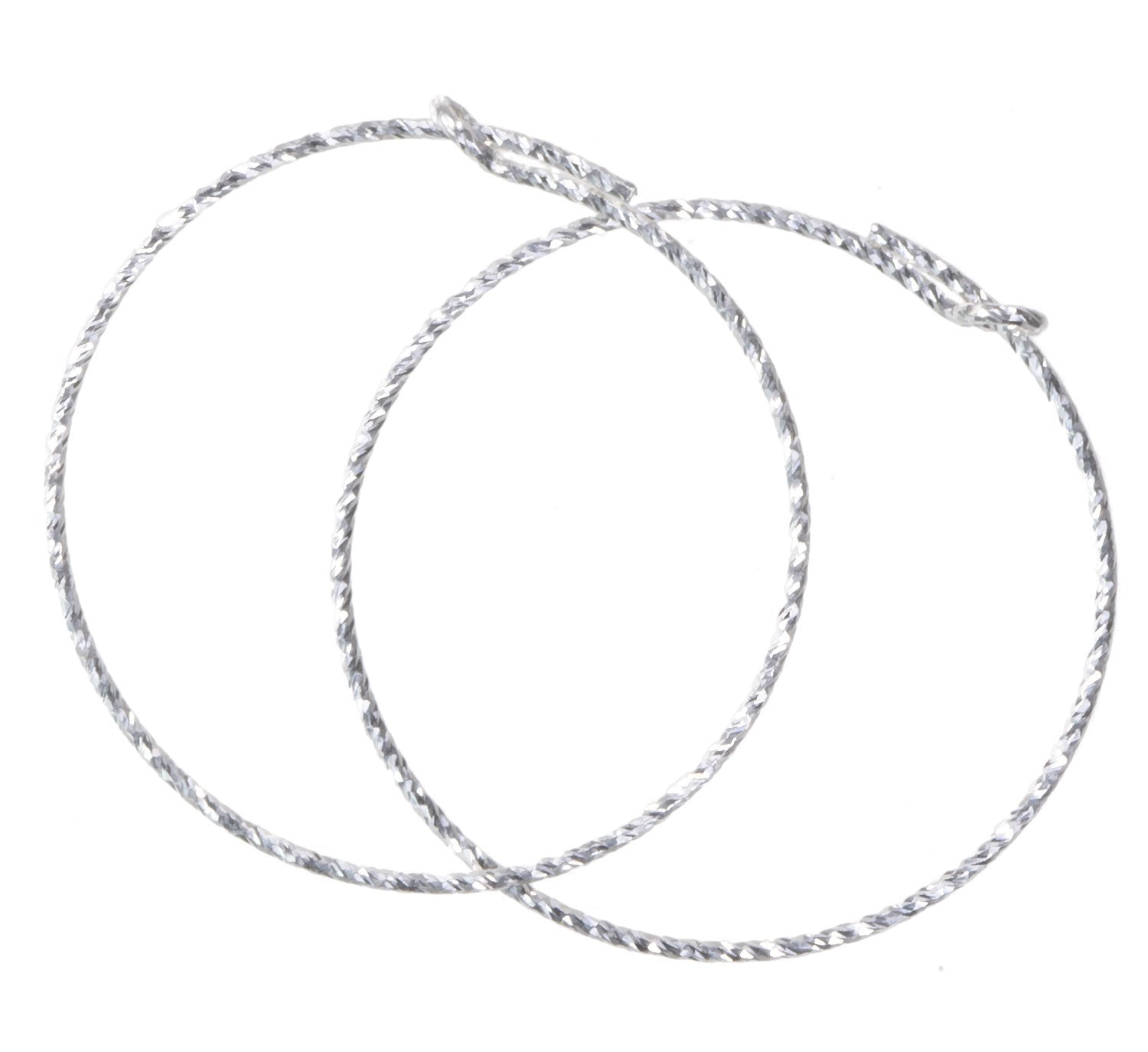 uGems Sterling Silver Beading Hoops Assorted Styles and Shapes