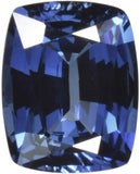 UnsetGems Blue Synthetic Sapphire Cushion Facet 10mm X 8mm