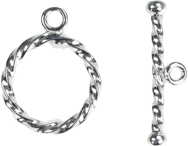 Sterling Silver Twist Toggle Ring (2.0x13.0mm) AT