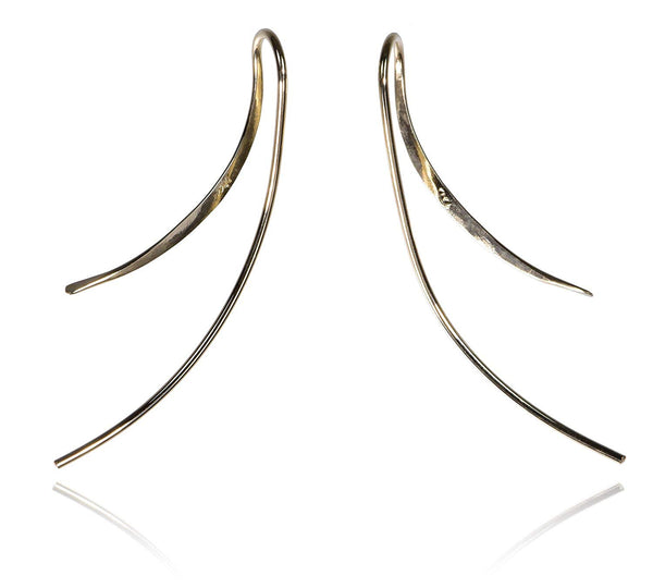 14K Yellow Gold Athena Drop Earrings