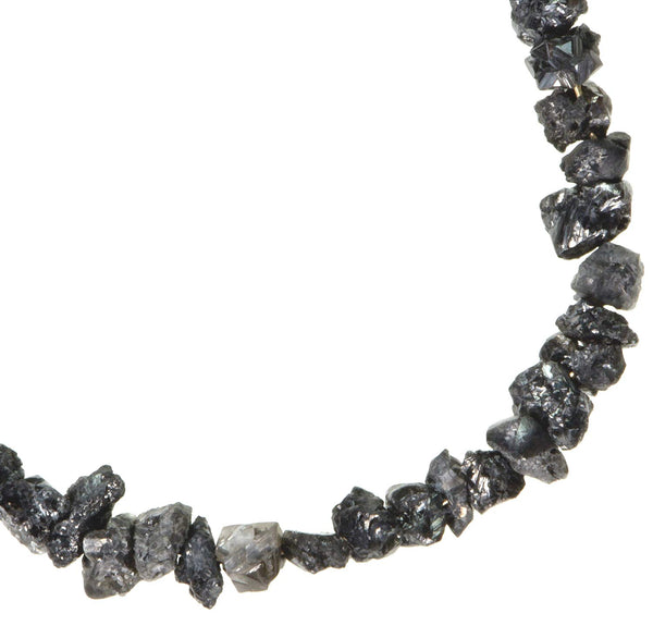 Grey Diamond Beads Genuine Rough on 14K Wire 2mm Tiny 2 Inches