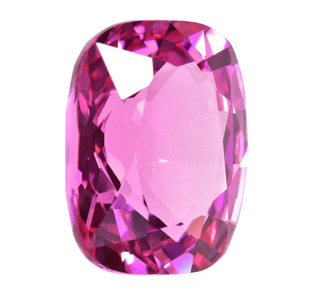 Pink Synthetic Sapphire Cushion Loose Unset ~15mm