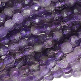 Amethyst Facet 4mm Round Small Beads Strand 15""
