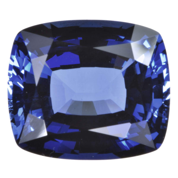 Blue Created Sapphire Facet Gemstone Cushion 13mm