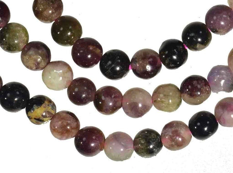 Tourmaline Multi Color Round 4mm Bead Strand 15