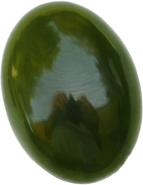 UnsetGems Nephrite Jade Cabochon Medium Greens 18mm x 13mm