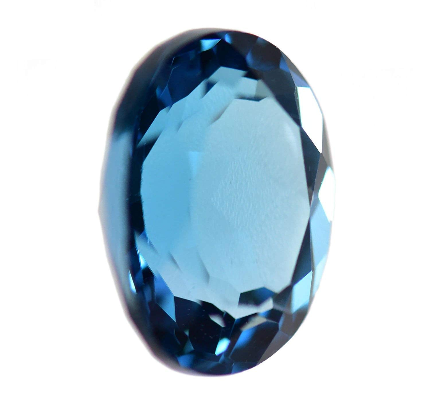 London Blue Topaz Faceted Oval Shape ~10mm x 8mm