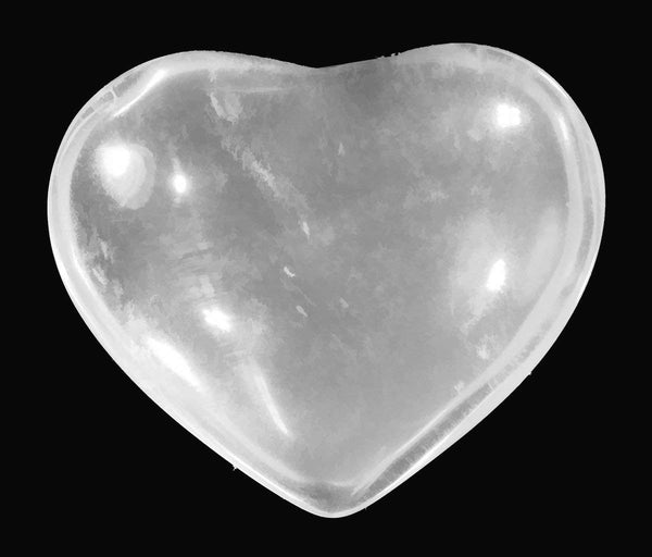 uGems Quartz Puff Heart Massage Tough Stone Specimen