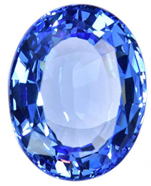 uGems Simulated Blue Topaz Oval Facet 22mm
