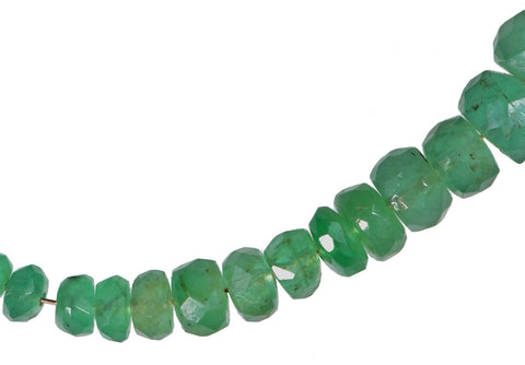 14K Wire 32ga Emerald Beads Facet Rondelles Genuine For Jewelry Making Tiny 3mm-4mm 24