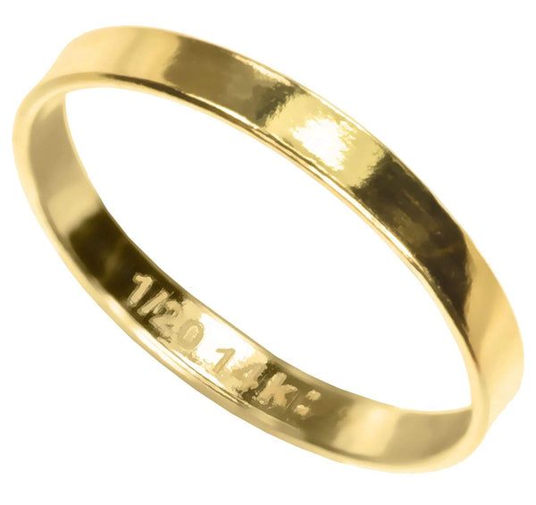 14K Gold Filled Flat Ring Stacking Size 7