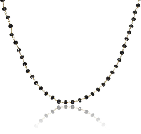 uGems Spinel Faceted Necklace Gold-Tone Links 20 Inch
